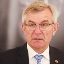 V. Pranckietis sako, kad klausimą dėl jo atleidimo spręs Seimas
