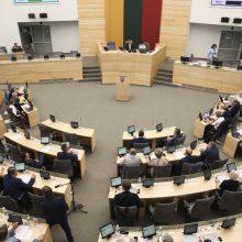 Seimo pirmininkas šaukia neeilinę Seimo sesiją