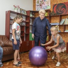 D. Grybauskaitė Biržuose pažėrė kritikos buvusiai valdžiai