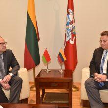 L. Linkevičius su naujuoju baltarusių ambasadoriumi kalbėjo apie Astravą