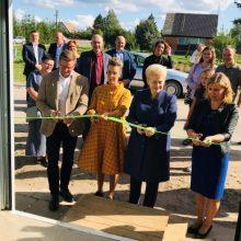 Tulpiakiemyje prezidentė D. Grybauskaitė atidarė Užimtumo namus