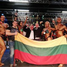 Lenkijos kultūrizmo taurės varžybose lietuviai iškovojo keturis medalius