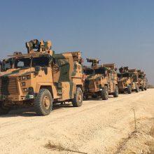Turkija ir Rusija pradėjo bendrą patruliavimą Šiaurės Sirijoje