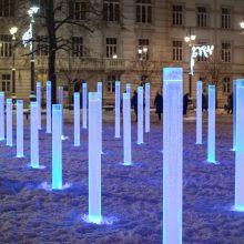 Į Lukiškių aikštę sugrįš fontanas – šviesos ir stiklo instaliacija