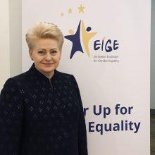 D. Grybauskaitė: EIGE tapo lyčių lygybės centru