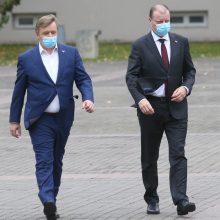 R. Karbauskis apie trintis su S. Skverneliu: truputį viešai pasišnekėjome