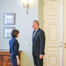 G. Nausėda pasveikino išrinktąją Moldovos prezidentę M. Sandu