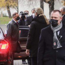 G. Nausėda: su Lenkijos prezidentu kalbėjomės ir sunkiais klausimais <span style=color:red;>(papildyta)</span>