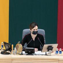 Seimo pirmininkė: karantino ribojimai grąžina Sausio 13-osios laikmečio dvasią