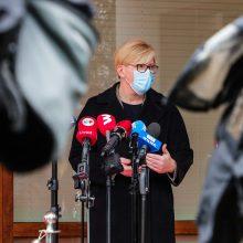"""Premjerė: pagal vakcinavimą atsiliekančios savivaldybės """"eina teisinga linkme"""""""