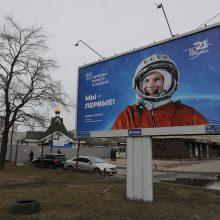 Rusija paskelbė istorines nuotraukas apie J. Gagarino skrydį į kosmosą