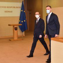 G. Landsbergis su parlamento vadovu kalbėjo apie reformų procesą Armėnijoje