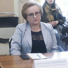 L. Andrikienė paragino viešu pareiškimu paremti kovojančią baltarusių tautą