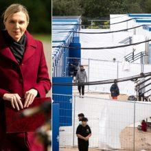 Ministrė žada užtikrinti Kybartų saugumą perkėlus ten neteisėtus migrantus