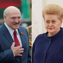 D. Grybauskaitė A. Lukašenkai: diktatoriau kruvinomis rankomis, traukis dabar