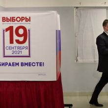 Lietuvos politikai parlamento rinkimus Rusijoje vadina farsu