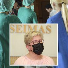 Premjerė sveikina slaugytojus jų profesinės šventės proga
