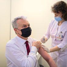 """Pirmasis iš šalies vadovų pasiskiepijo prezidentas: rinkosi """"AstraZeneca"""" vakciną"""