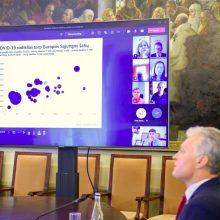 Prezidentas posėdžiavo su sveikatos ekspertais: kalbėta apie vakcinacijos spartinimą