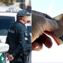 Joniškyje vyras policijos pareigūnui bruko 50 eurų kyšį