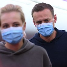 A. Navalno lėktuvas nusileido Maskvoje, buvo nukreiptas į kitą oro uostą