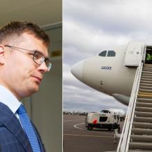 Susirūpino: su V. Putinu siejamo oligarcho lėktuvas remontuojamas Vilniuje