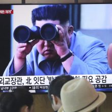 Šiaurės Korėjos lyderis labai patenkintas naujausiu raketų bandymu