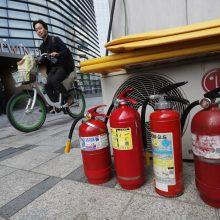 Seule vyras pasidegė prie Japonijos ambasados