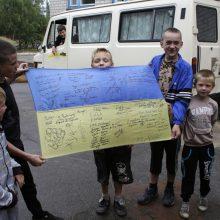 Šaulių sąjunga rengia stovyklą karių vaikams iš Rytų Ukrainos