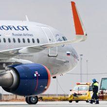 """""""Aeroflot"""" atšaukė keturis skrydžius tarp Maskvos ir Vilniaus"""