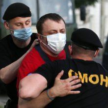 Aktyvistai: Baltarusijoje per protestus sulaikyta mažiausiai 17 žmonių