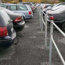 Užgrūstuose sostinės kiemuose atsirado daugiau vietų automobiliams