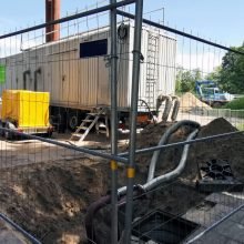 Mobilioji katilinė aprūpins karštu vandeniu dalį Naujamiesčio pastatų