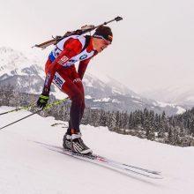 Biatlonininkas V. Strolia pasaulio čempionate – 26-as