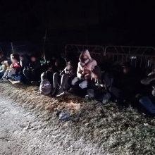 Aštuonilika pasienį neteisėtai kirtusių Irako piliečių pasiprašė prieglobsčio Lietuvoje