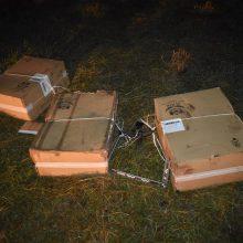 Sodyboje pasieniečiai aptiko 7 tūkst. kontrabandinių rūkalų