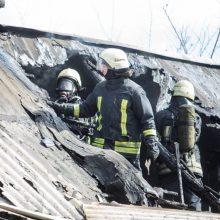 Nelaimė Aleksote: medinio namo viduje kilo gaisras