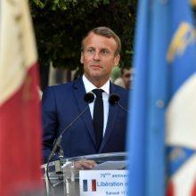 """Prancūzijos prezidentas ketvirtadienį su JK premjeru aptars """"Brexit"""""""