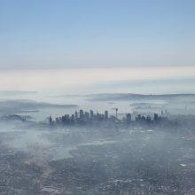 Sidnėjų apgaubė pavojingi miškų gaisrų dūmai