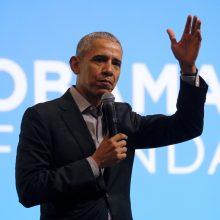 Obama išreiškė paramą jauniems JAV protestuotojams