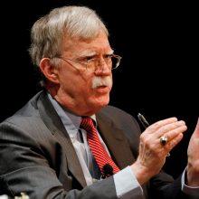 J. Boltonas: D. Trumpas yra amoralus prezidentas