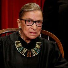 Mirė JAV Aukščiausiojo Teismo teisėja R. Bader Ginsburg