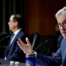 J. Powellas: vėl atsivėrusi JAV ekonomika bus kitokia
