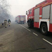 Černobylio zonoje atsiųstas pastiprinimas: gaisrus gesina 1 400 ugniagesių