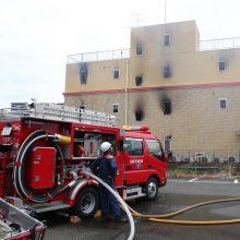 Daugėja per gaisrą animacijos studijoje Japonijoje žuvusių žmonių, dešimtys sužeistų