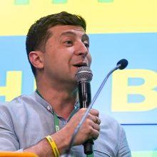 Ukrainos parlamento rinkimuose pirmauja prezidento partija