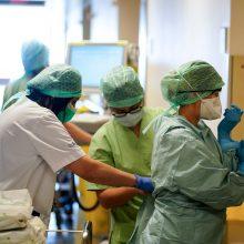 Belgijoje padvigubėjo koronaviruso pacientų, kuriems reikalinga intensyvi priežiūra