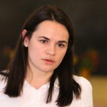 Minskas: ES ministrų susitikimas su S. Cichanouskaja – kišimasis į šalies reikalus