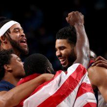 Prancūzus finale palaužę amerikiečiai iškovojo olimpinio krepšinio turnyro auksą