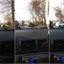 Avarija prie Vingio parko: susidūrus trims automobiliams nukentėjo mažametis